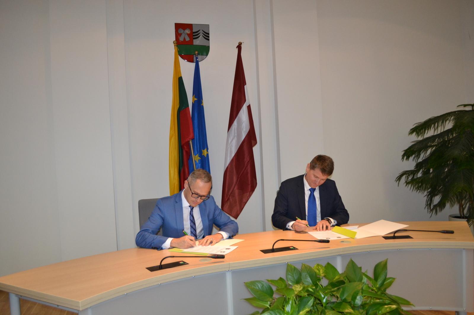 Pasirašytas bendradarbiavimo ketinimų protokolas su latviais