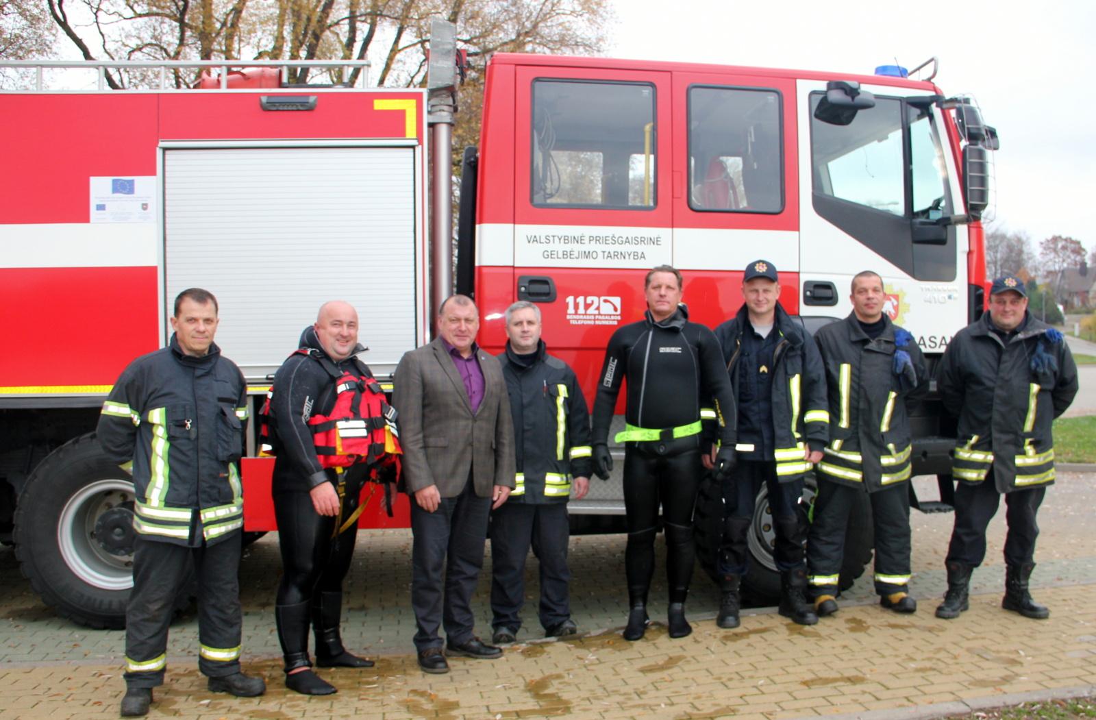 Zarasuose gerinamos ugniagesių gelbėtojų darbo sąlygos