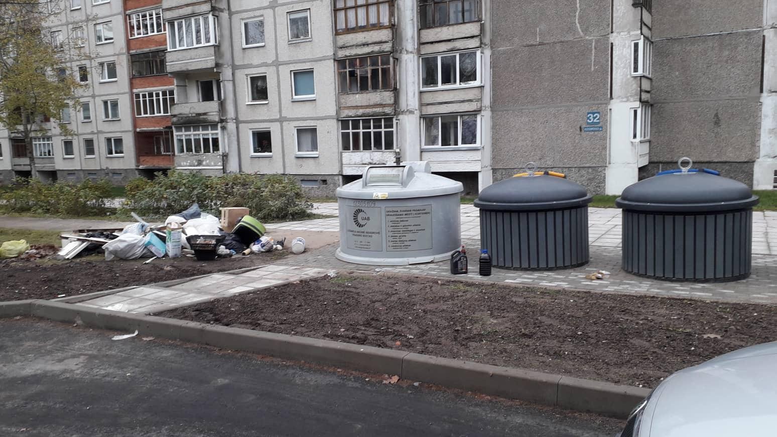 Nauji konteineriai nesukuria tvarkingesnės aplinkos Visagine