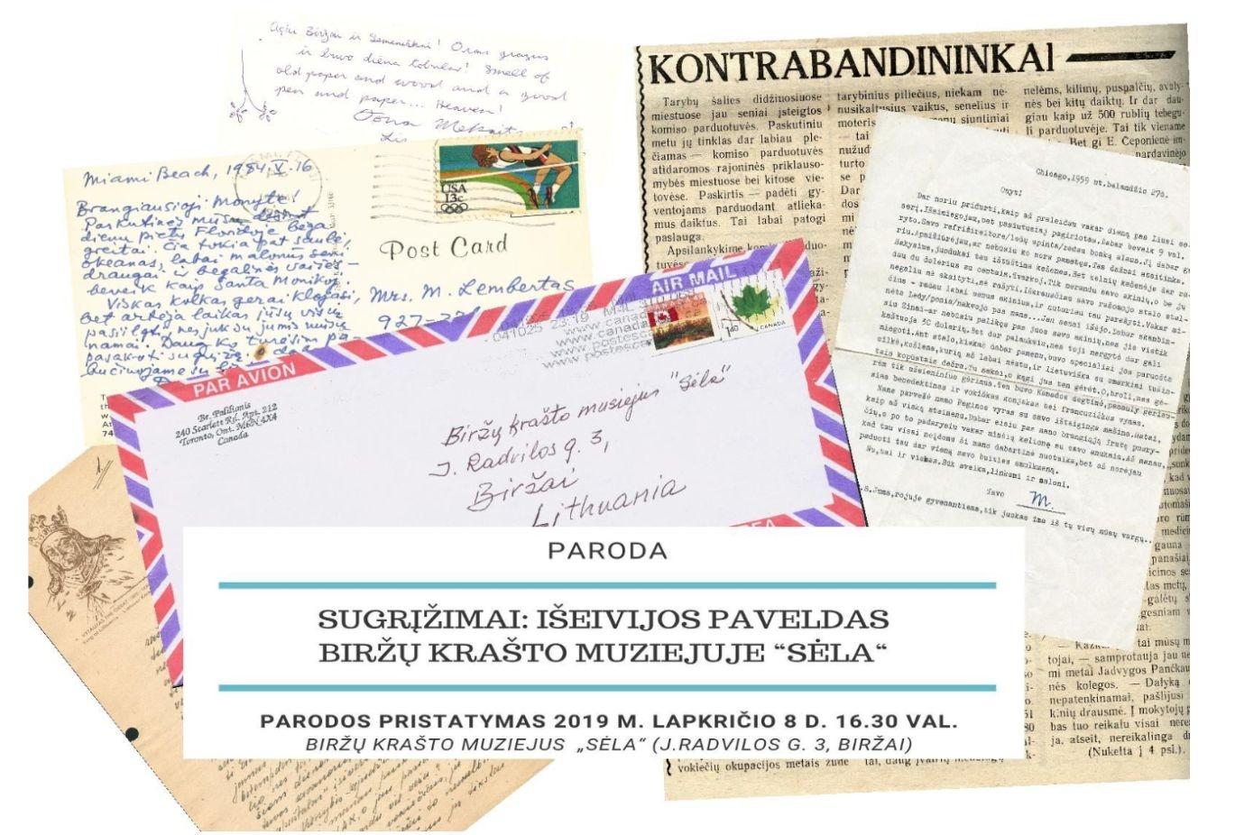 """Paroda """"Sugrįžimai: išeivijos paveldas Biržų krašto muziejuje """"Sėla"""" (ir ne tik...)"""""""