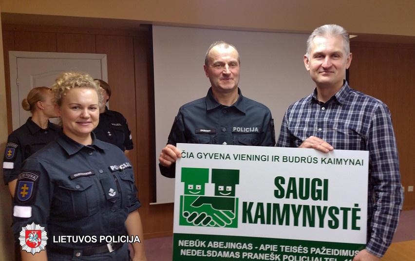 """Panevėžyje apdovanoti konkurso """"Saugi kaimynystė 2019"""" nugalėtojai"""