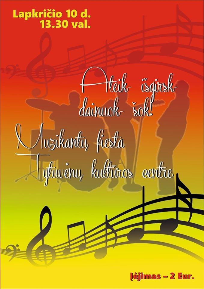 """Tytuvėnų kultūros centre – """"Muzikantų fiesta"""""""