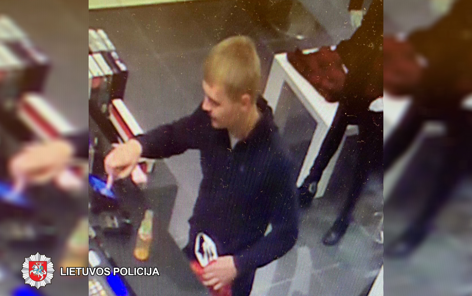 Panevėžyje ieškomas iš parduotuvės dvi poras kojinių pavogęs vyras