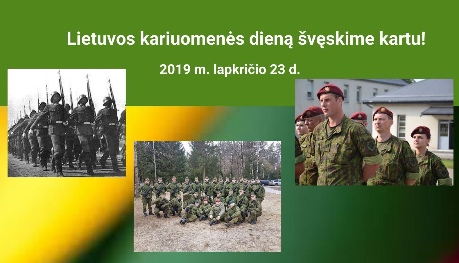 Lietuvos kariuomenės dieną švęskime kartu!