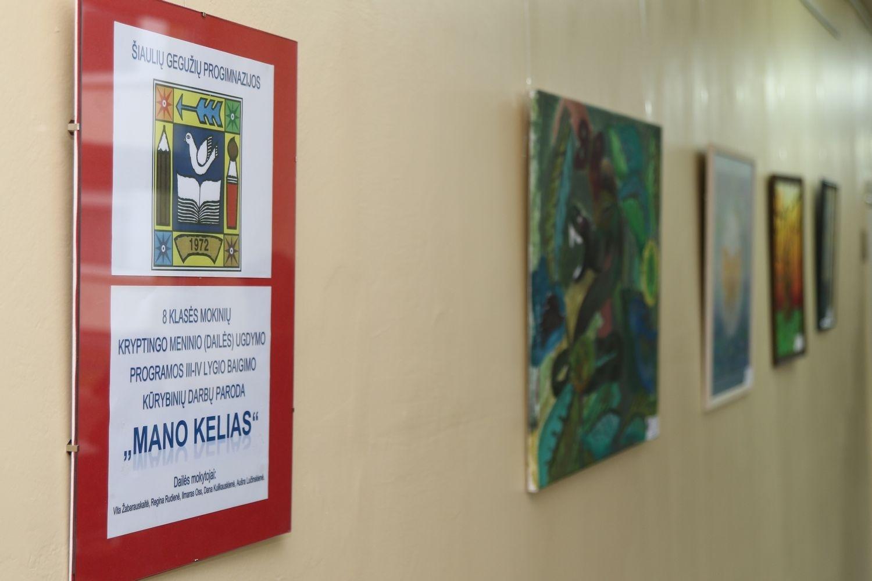 Gegužiečių darbų paroda Lieporių gimnazijoje