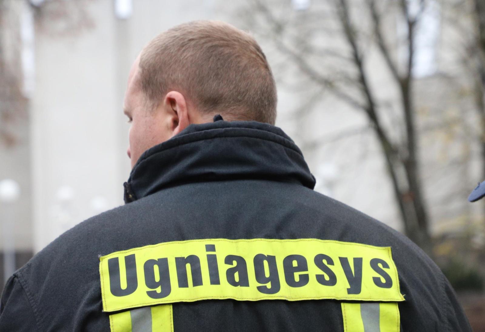 Ukmergės rajone degė ūkinis pastatas