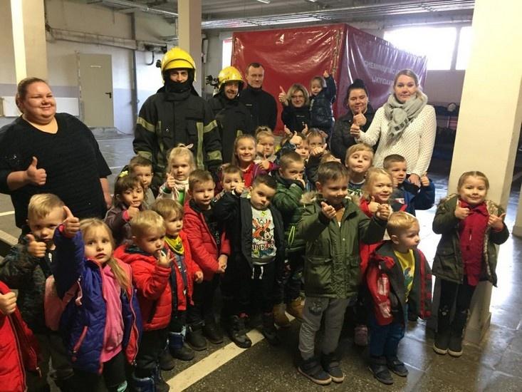 Prevencinė akcija su Marijampolės ugniagesiais