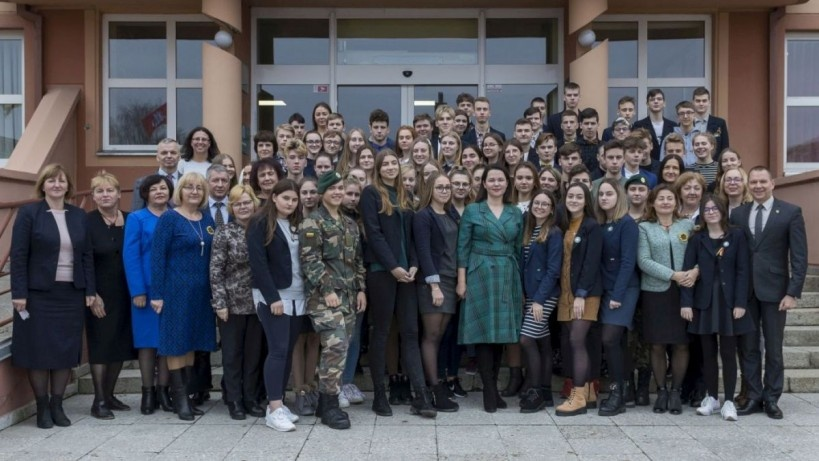Pilietiškumo pamokos akcentas – meilė Lietuvai ir Lazdijams