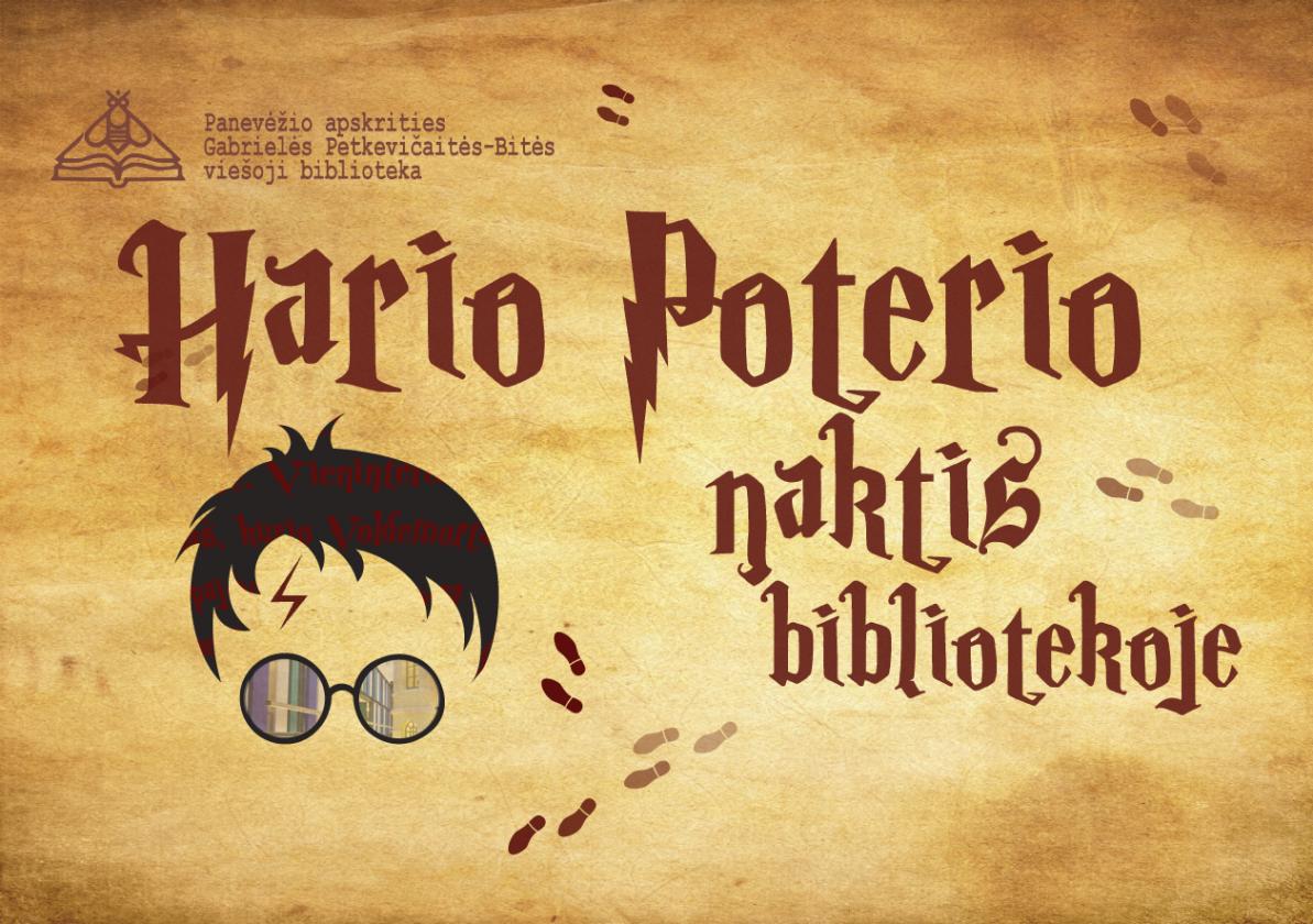 G. Petkevičaitės-Bitės bibliotekoje – Hario Poterio naktis