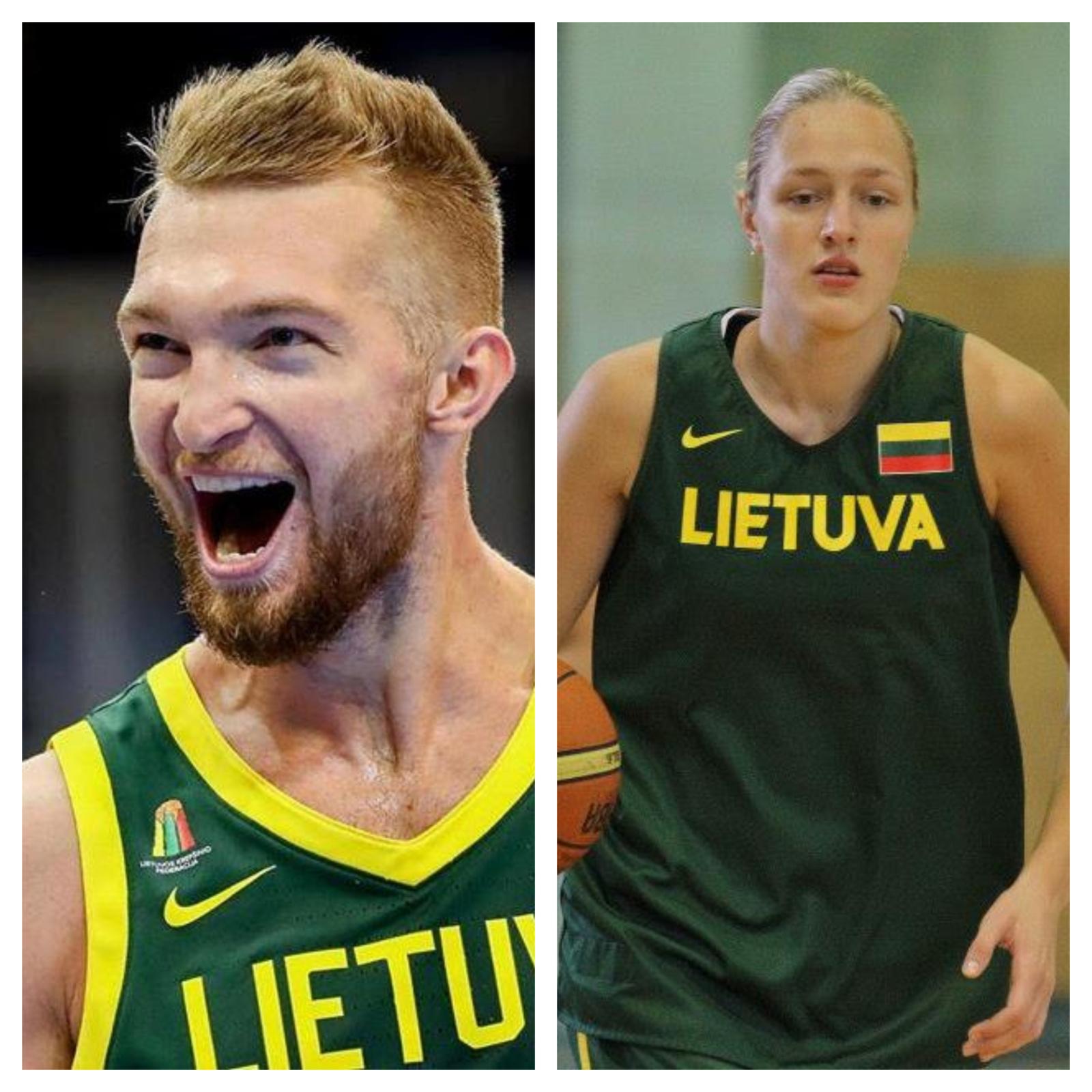 Geriausi 2019 metų Lietuvos krepšininkai - D. Sabonis ir G. Petronytė