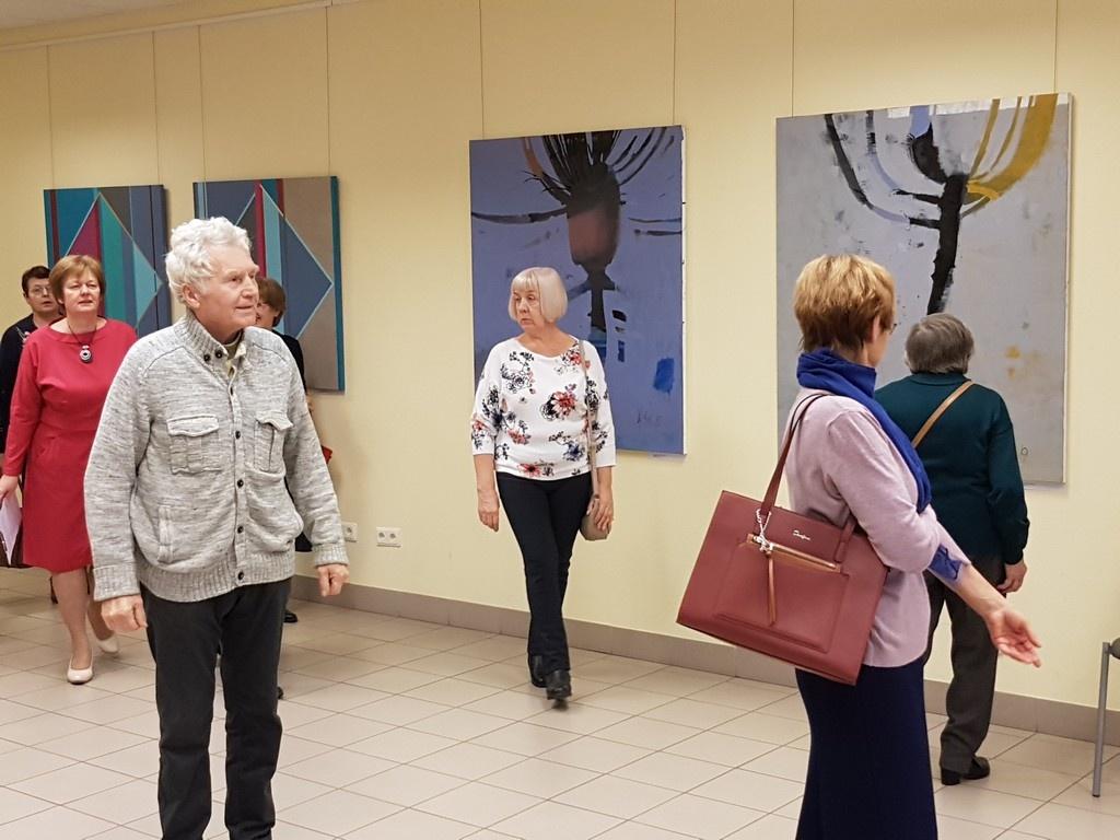 Panevėžio menininkai atidarė parodą Latvijoje