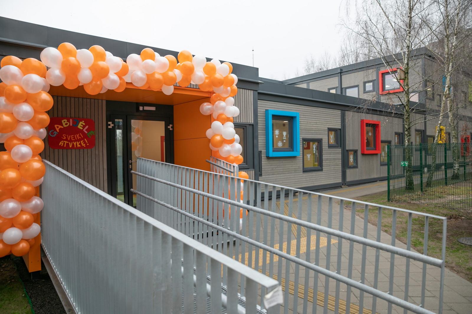 Trečiasis modulinis vaikų darželis atidarytas Pašilaičiuose