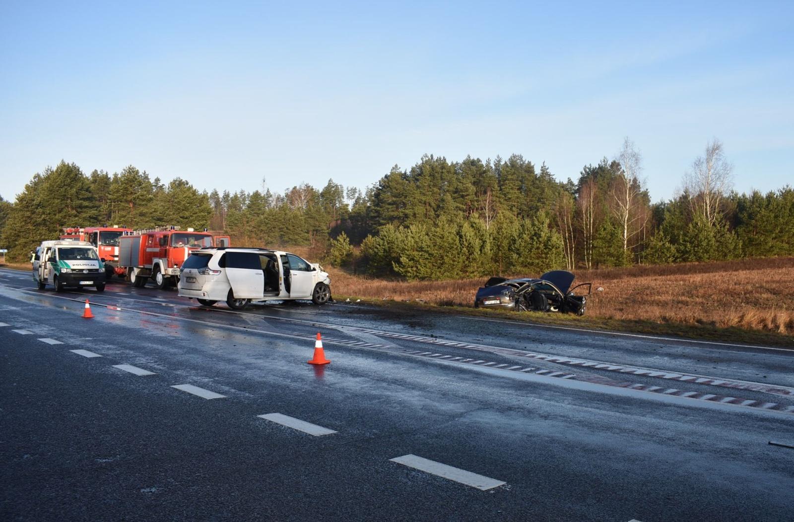 Skaudi avarija Varėnos rajone: žuvo automobilio keleivė