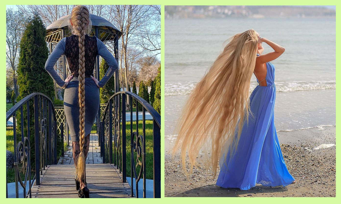 Moteris neįtikėtino ilgio plaukais: nekirpo jų 30 metų