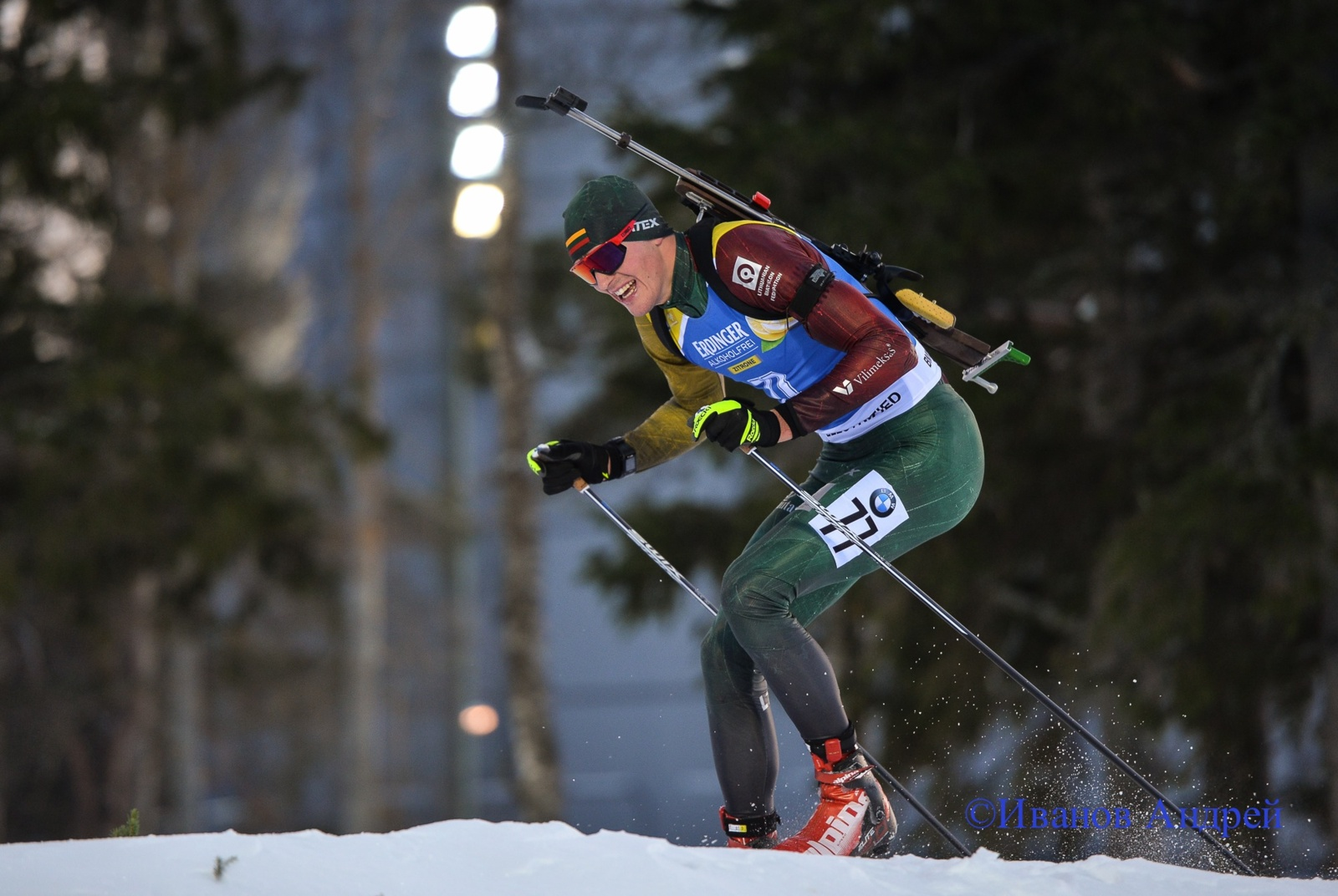 Tėvu tapęs Vytautas Strolia pasiekė Lietuvos biatlonininkų rekordą