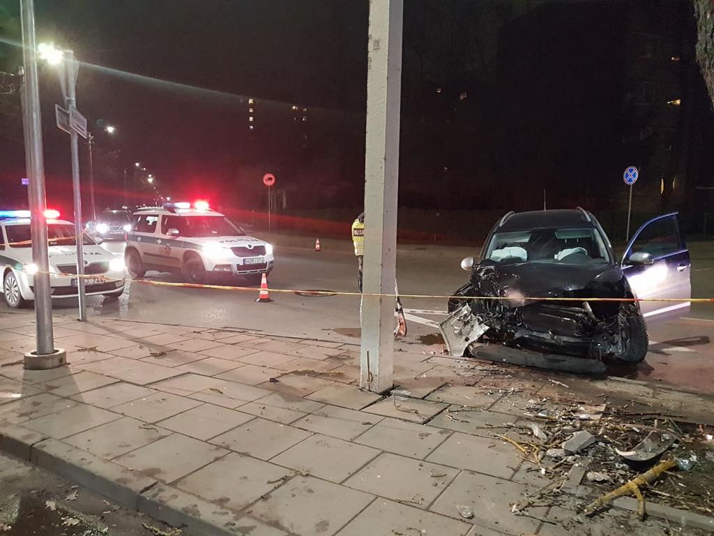 """Prie PC """"Šilas"""" automobilis rėžėsi į medį: vairuotojas sužalotas"""