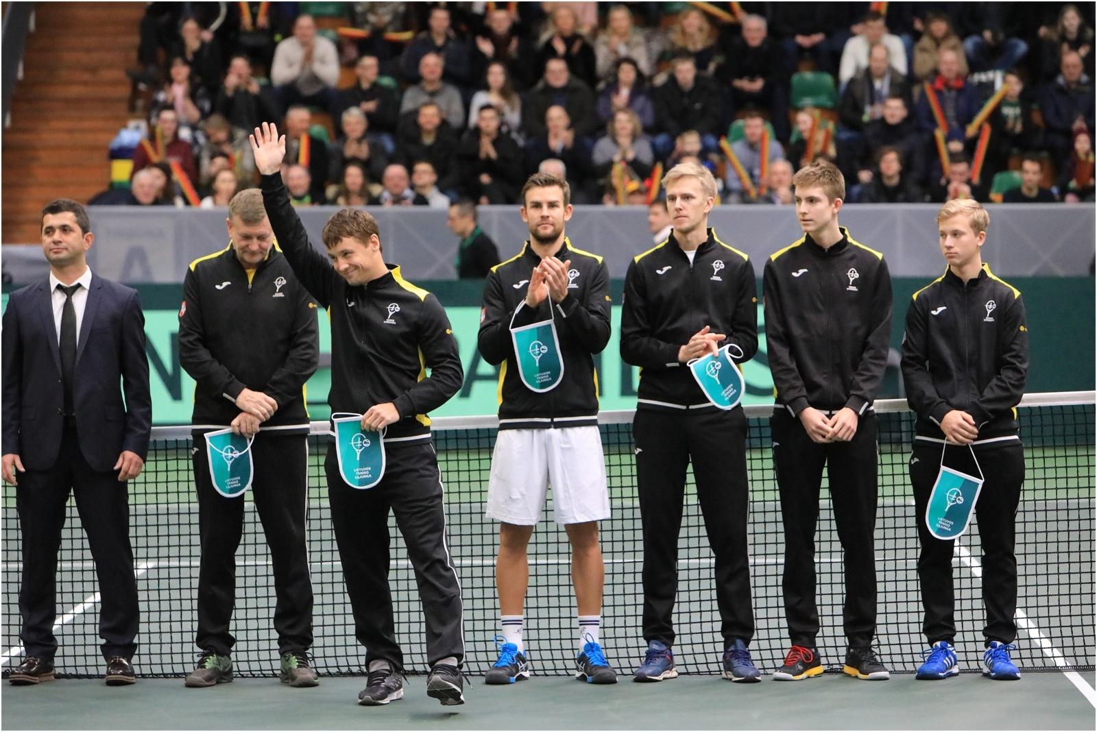 Daviso taurė: Lietuvos ir Portugalijos teniso rinktinės susikaus Šiauliuose