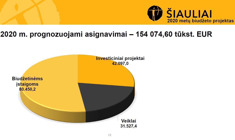 Šiaulių biudžetas paprastai skaidrėse!
