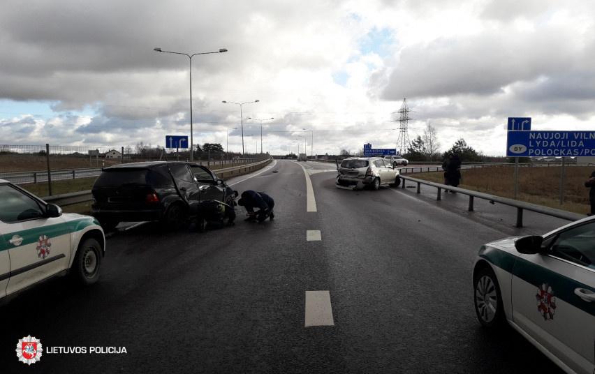 Per avariją Vilniaus rajone nukentėjo moteris