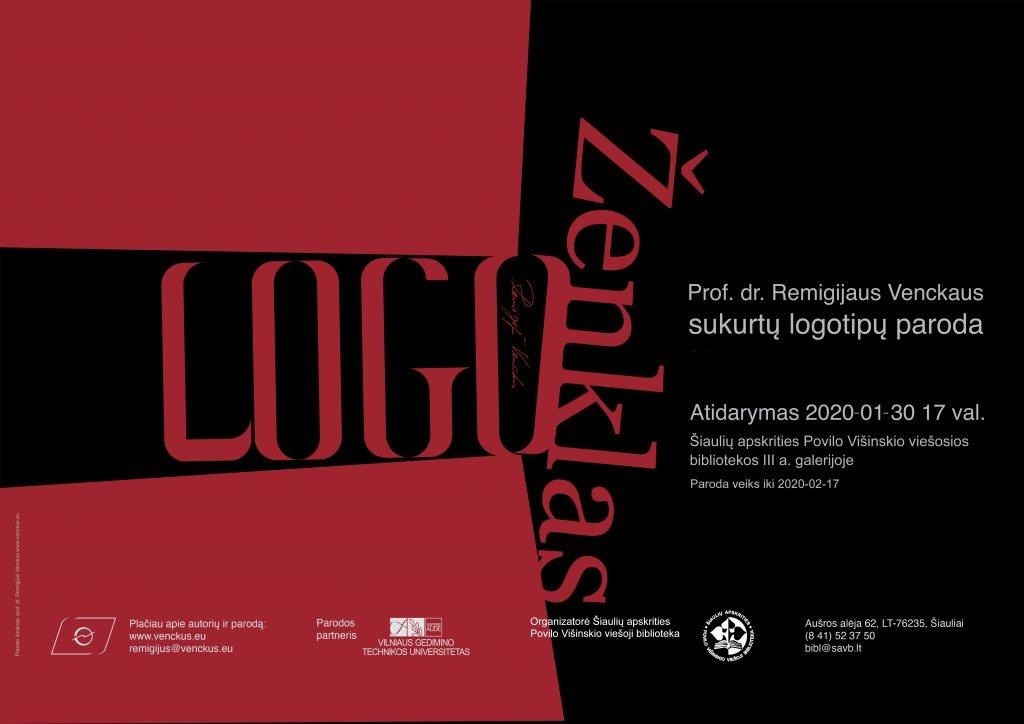 """Atidaroma Remigijaus Venckaus logotipų paroda """"Logo. Ženklas"""""""