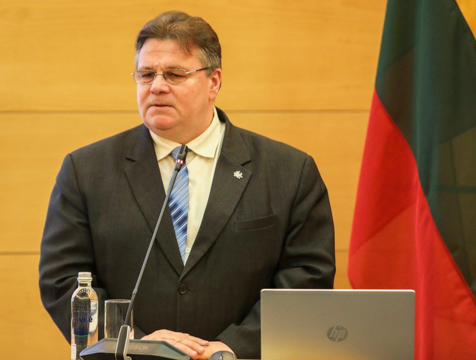 L. Linkevičius: į krizę Baltarusijoje reikia reaguoti aktyviau