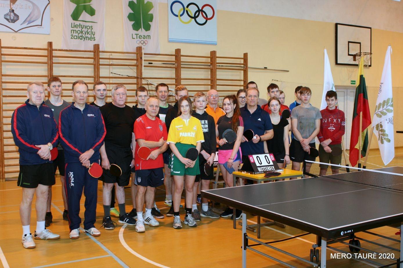 Biržuose vyko stalo teniso turnyras Mero taurei laimėti