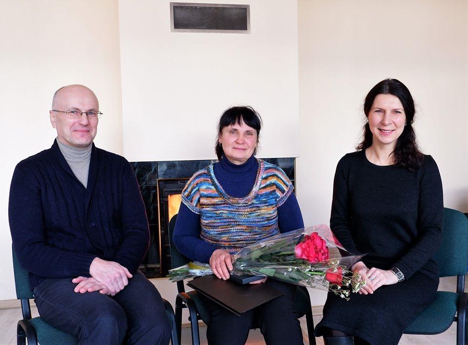 Skrebiškių kaimo kultūros darbuotoja apdovanota už savanoriškus darbus