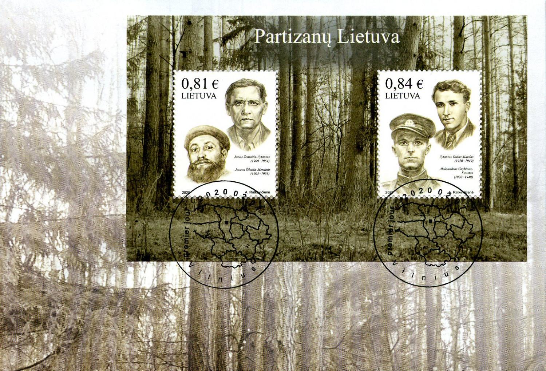 Išleidžiamas pašto ženklų blokas, skirtas 4 partizanams, pasirašiusiems Lietuvos laisvės kovos sąjūdžio deklaraciją