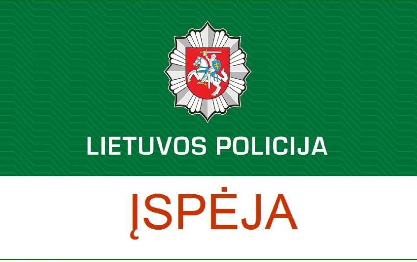 Sukčiai naudojasi Lietuvos policijos vardu