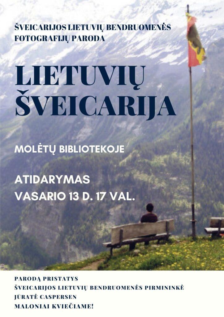 Lietuvių Šveicarija Molėtų bibliotekoje
