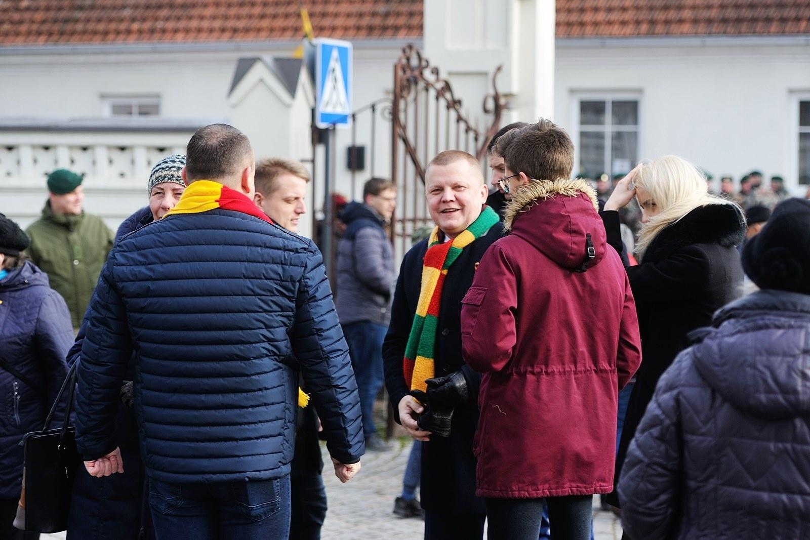 Marijampolė šventiškai paminėjo Lietuvos valstybės atkūrimo dieną