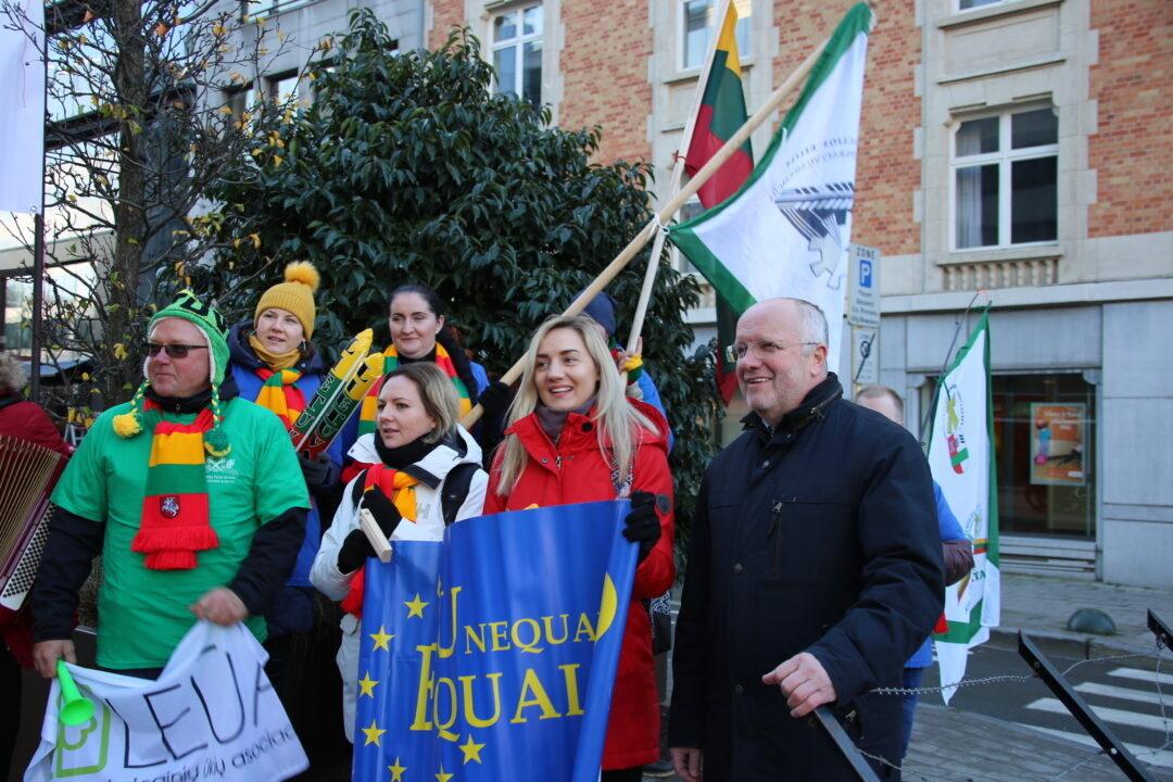 Briuselyje vėl protestuoja Lietuvos ūkininkai