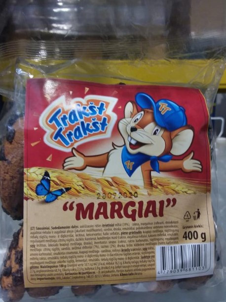 """Iš rinkos atšaukiami sausainiai """"Margiai"""" – rasta medžiagų, didinančių riziką susirgti vėžiu"""