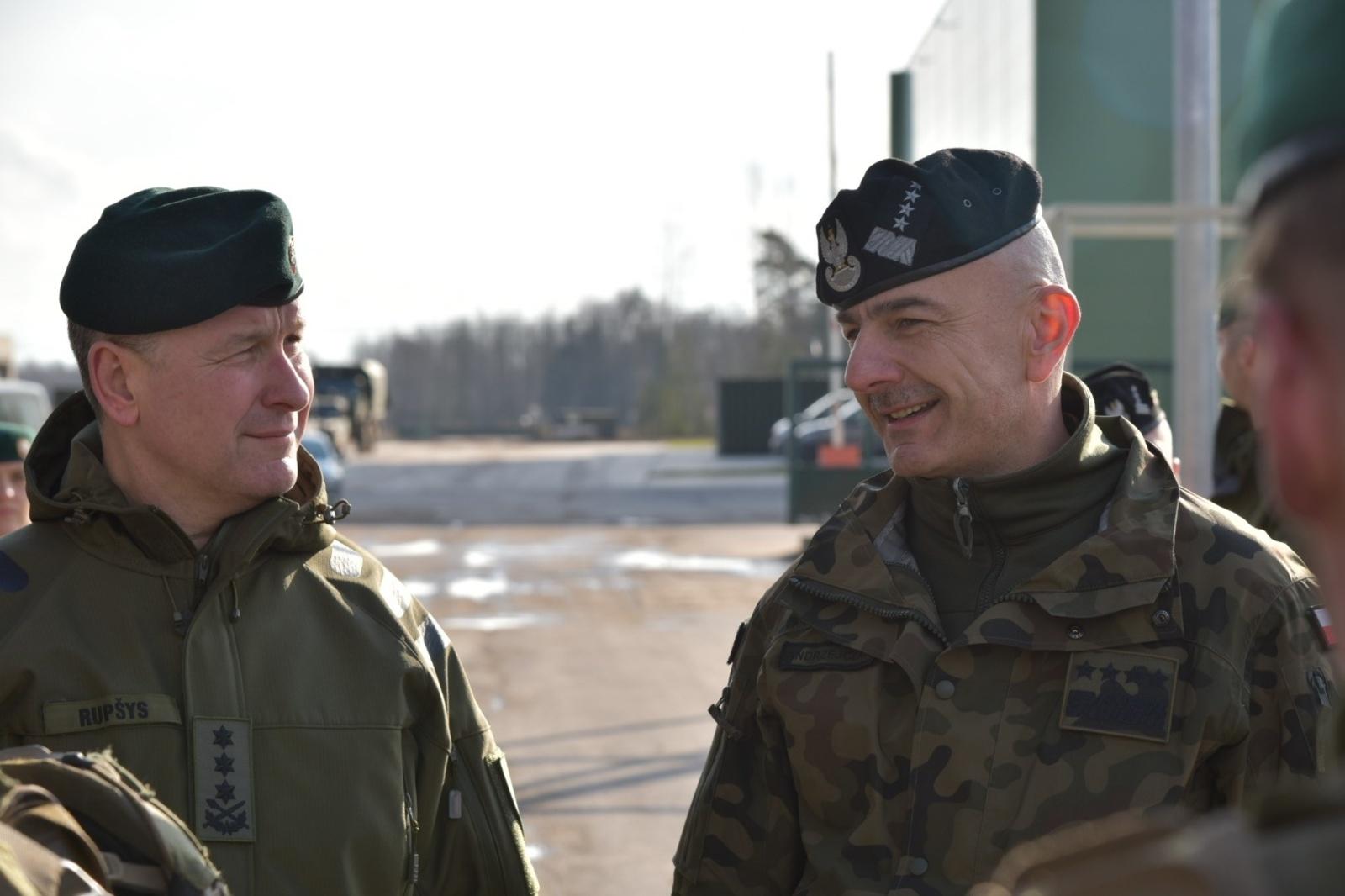 Rukloje susitiko Lietuvos ir Lenkijos kariuomenių vadai