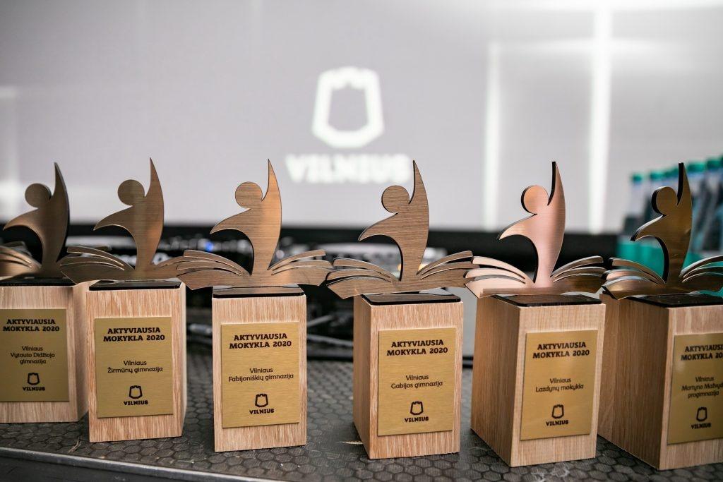 Sostinėje trečius metus iš eilės apdovanotos aktyviausios mokyklos