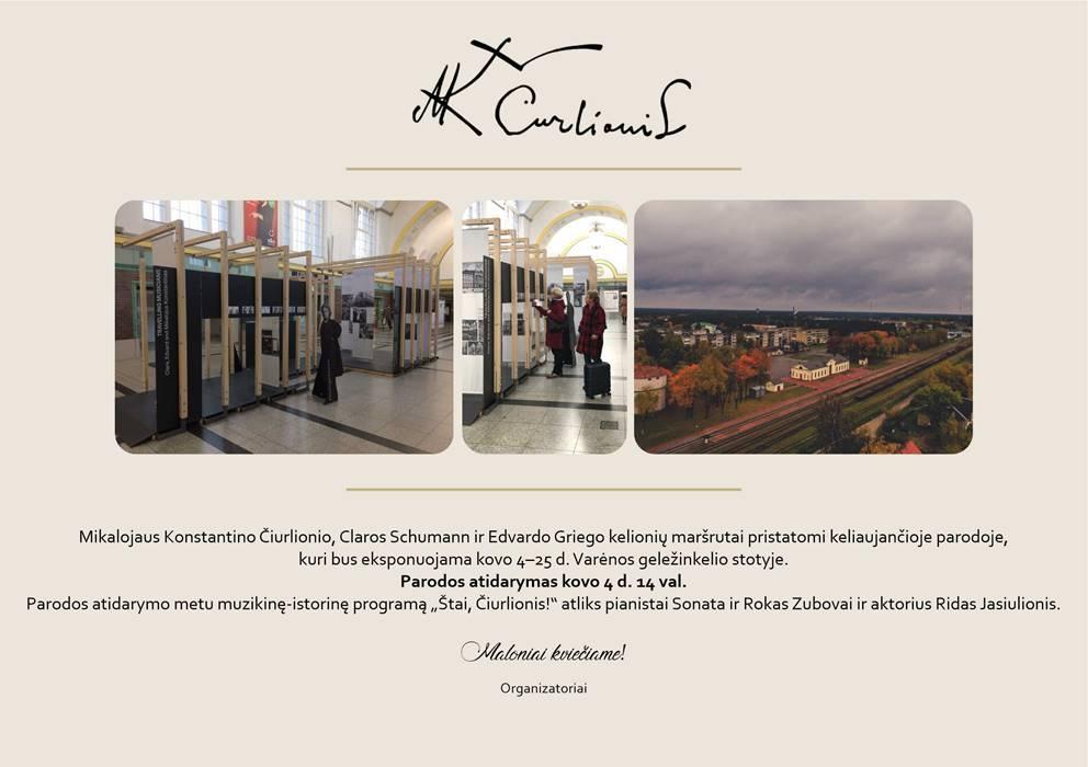 Varėnos geležinkelio stotyje bus atidaryta keliaujanti paroda