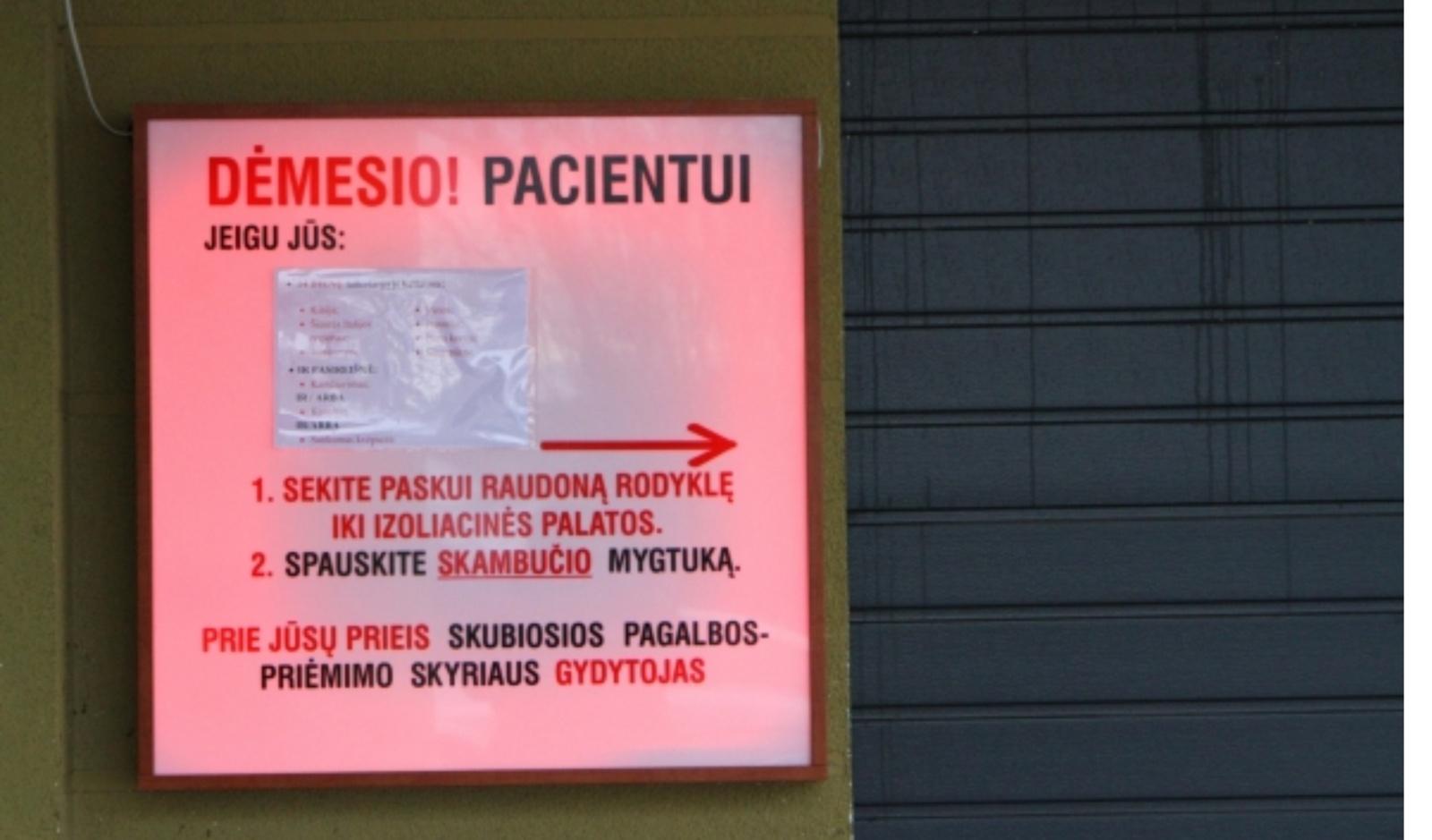 Infekuotieji koronavirusu bus telkiami penkiose Lietuvos ligoninėse
