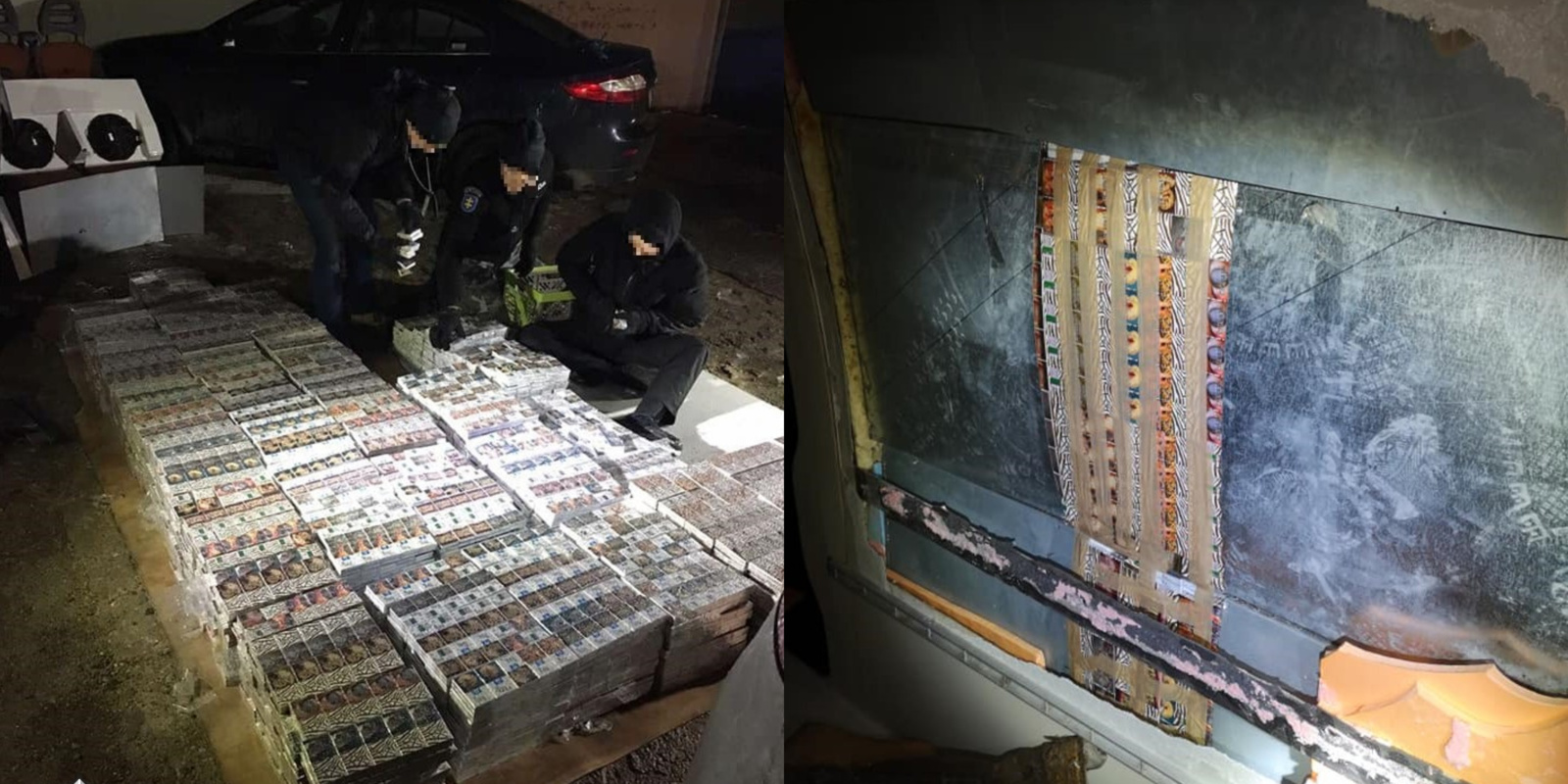 Kontrabandinės cigaretės slėptos ant vilkiko vežtame mikroautobuse-šaldytuve