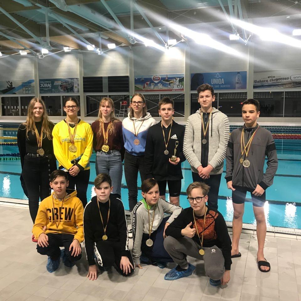 Plaukikams puikiai sekėsi Klaipėdos jaunučių ir jaunių plaukimo čempionate