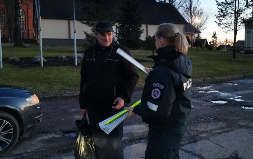 Vasario mėnesį policija keliuose vykdė prevencines priemones
