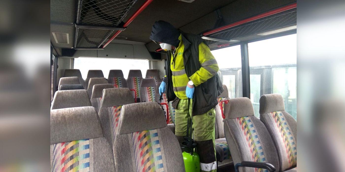 Autobusus Kėdainiuose dezinfekuos dar intensyviau