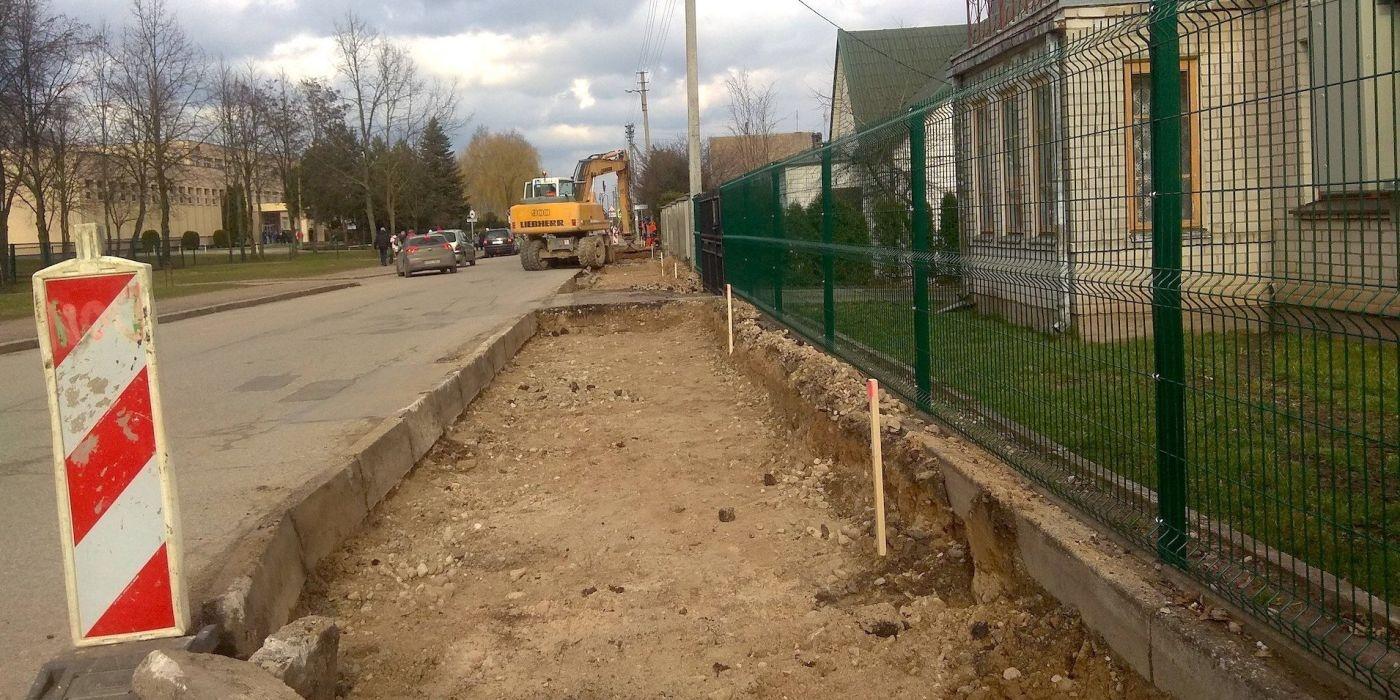 Pradėta Pavasario gatvės rekonstrukcija