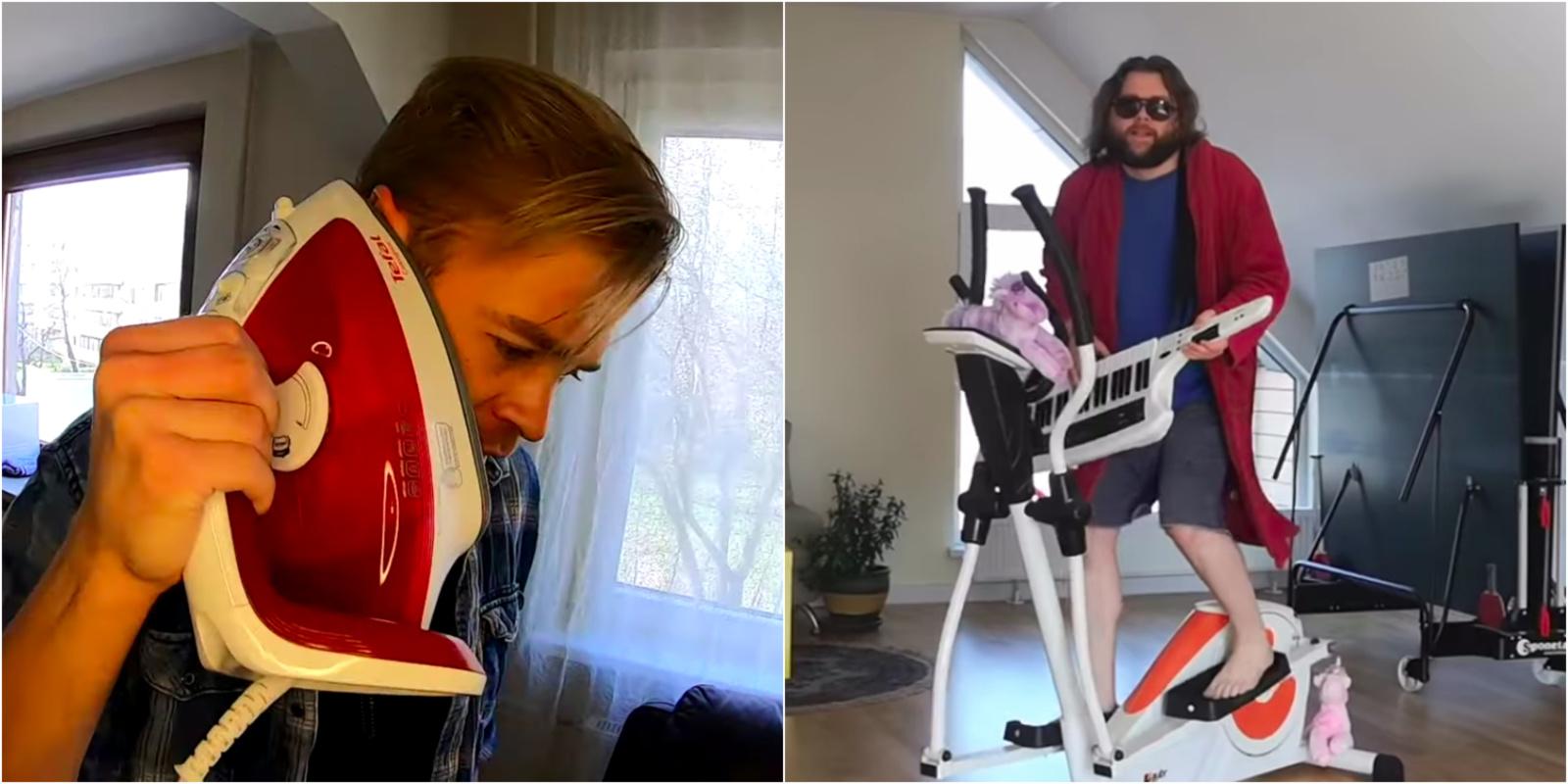 Karantino metu humoro Lietuvos muzikantai nepraranda – šėlsta namuose