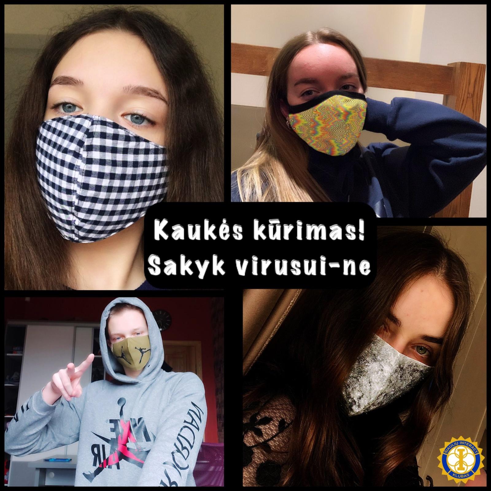 Šiauliuose – originaliausios apsauginės kaukės rinkimai