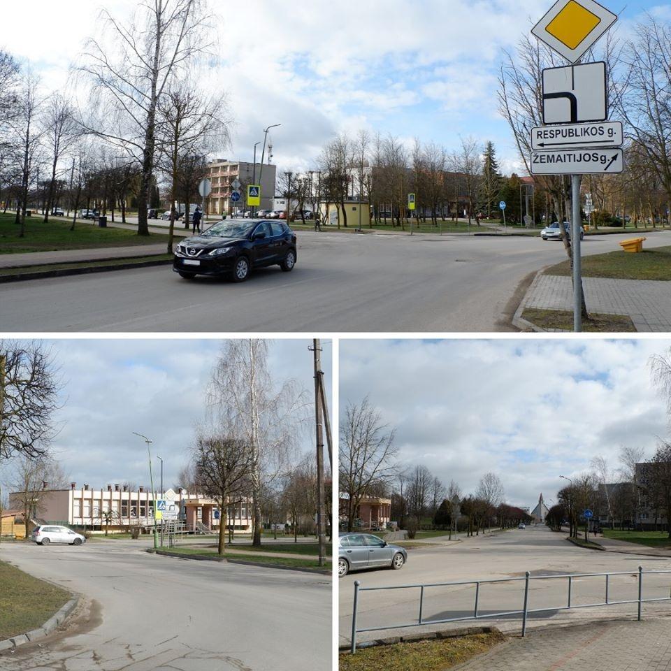 Naujojoje Akmenėje uždaroma Žemaitijos ir Respublikos gatvių sankryža