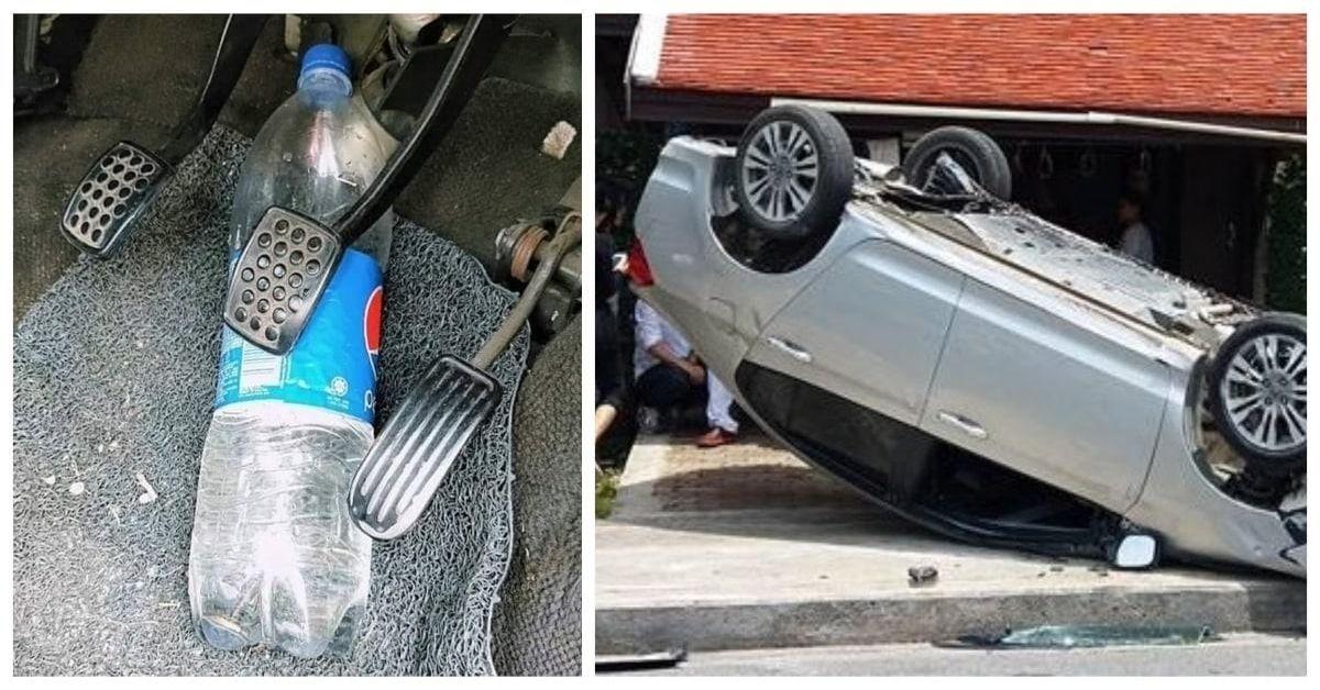 Vairuotojai privalo tai perskaityti: plastikiniai buteliai automobilyje gali būti pavojingi