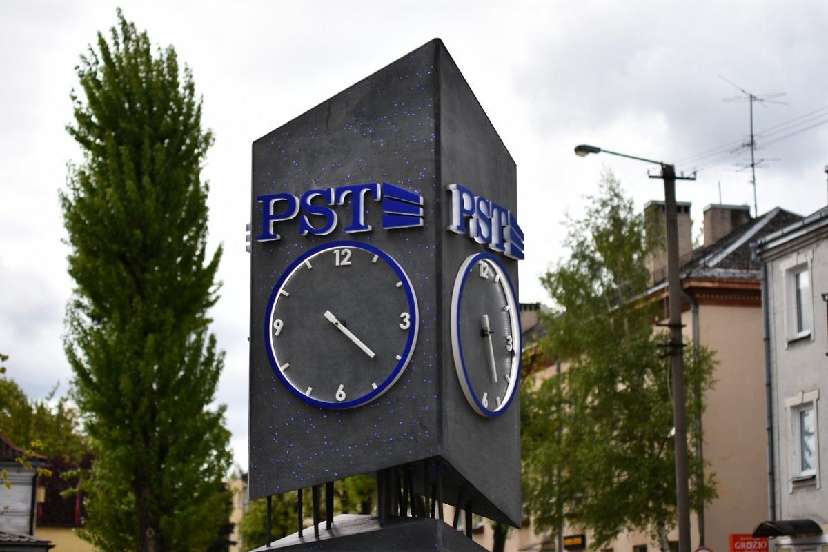 Panevėžyje vandalai nuniokojo miestui dovanotą laikrodį