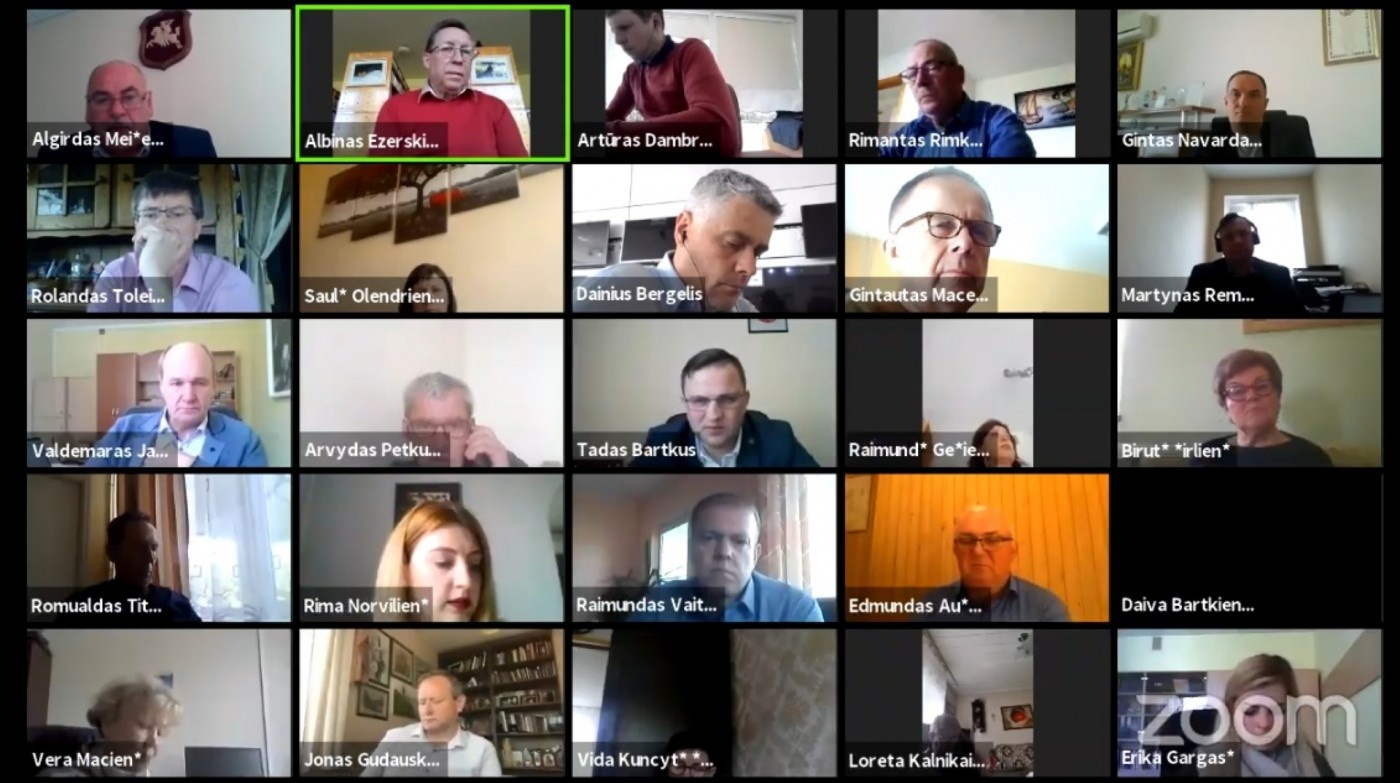 Įvyko nuotolinis Šilalės rajono savivaldybės tarybos posėdis
