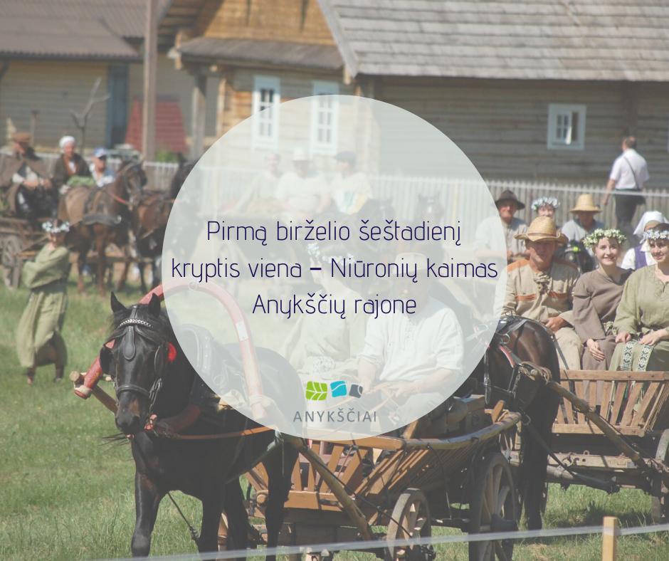 Pirmą birželio šeštadienį kryptis viena – Niūronių kaimas Anykščių rajone