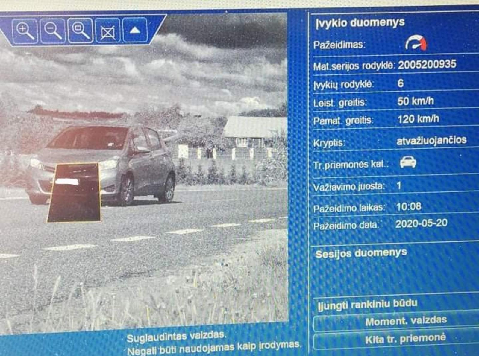 Elektrėnų pareigūnai drausmino eismo taisyklių pažeidėjus